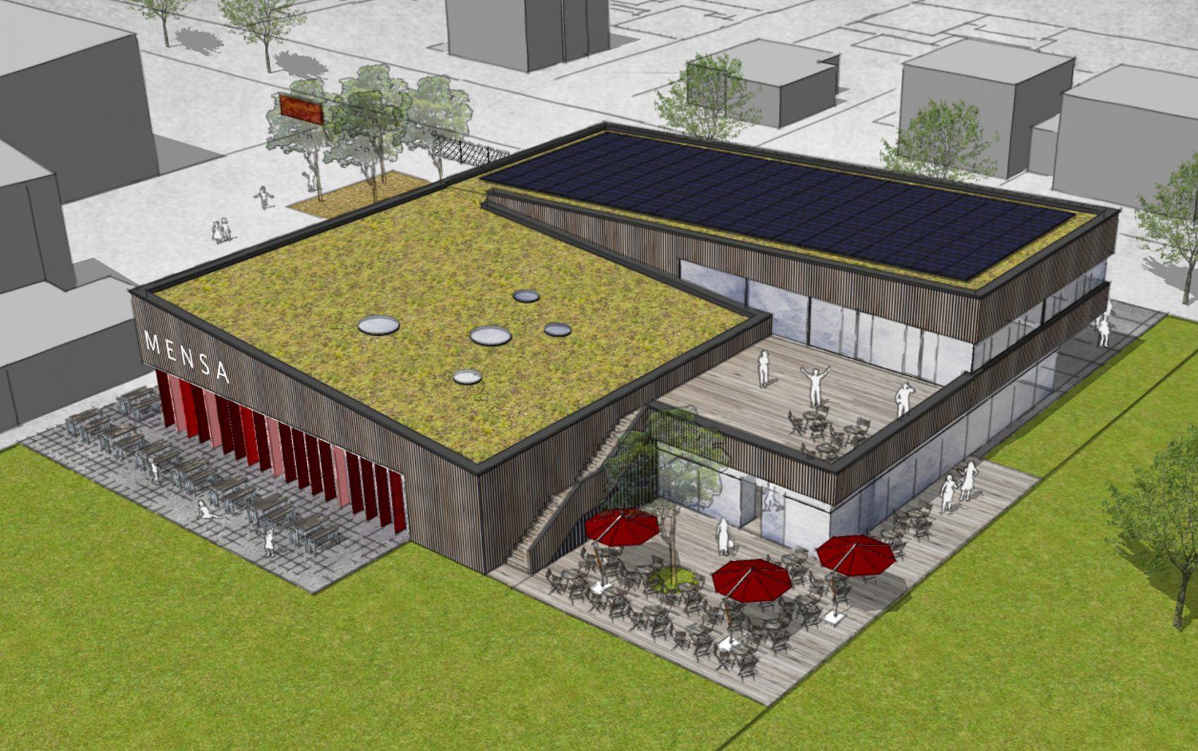 Neubau Mensa und Ausbildungsrestaurant Georg-Mangold-Schule, Bischofsheim