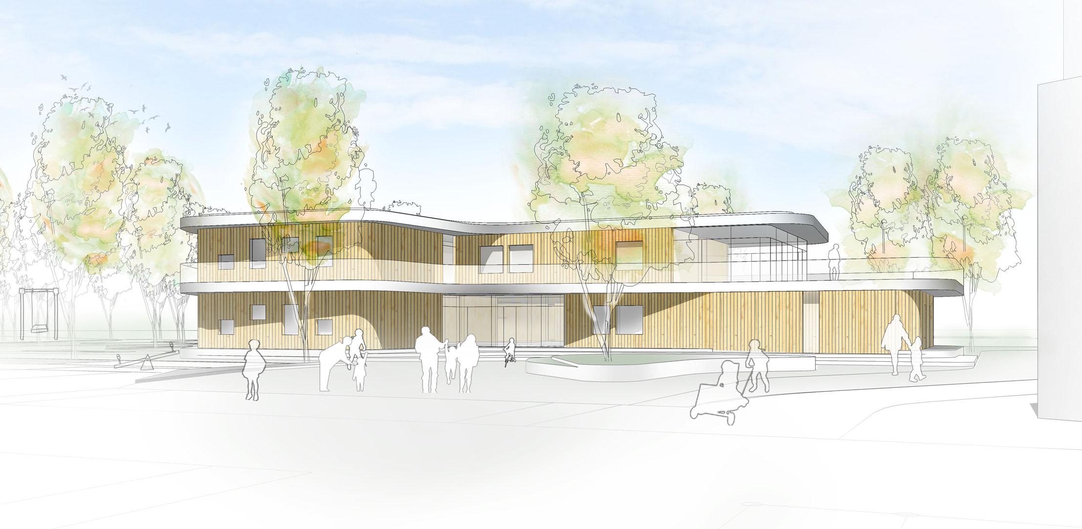 Neubau Kinderhaus mit 6 Gruppen Walldorf – Anerkennung (mit Sinning Architekten)